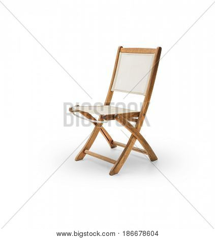 Garden chair on white background -Clipping path