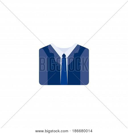 Flat Suit Element. Vector Illustration Of Flat Costume Isolated On Clean Background. Can Be Used As Suit, Costume And Manager Symbols.
