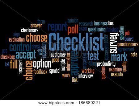 Checklist, Word Cloud Concept 3