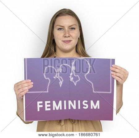 Women Rights Equality Liberation Feminine Graphic poster