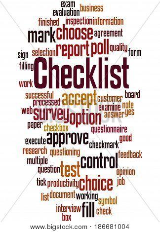 Checklist, Word Cloud Concept 7