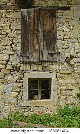A derelict building in the small hill village of Altana in Friuli Venezia Giulia north east Italy
