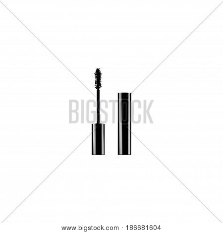 Realistic Mascara Element. Vector Illustration Of Realistic Eyelashes Ink Isolated On Clean Background. Can Be Used As Mascara, Eyelashes And Ink Symbols.