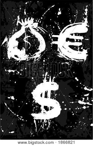 Bag , Euro, Dollar, Money