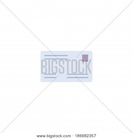 Flat Mail Element. Vector Illustration Of Flat Envelope Isolated On Clean Background. Can Be Used As Mail, Post And Envelope Symbols.