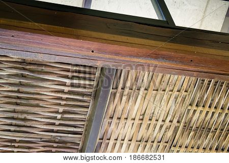 Traditional Architecture Of Bamboo Roof stock photo