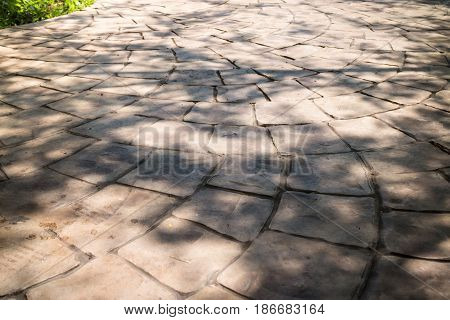 Stamp Concrete Texture Walk Way stock photo