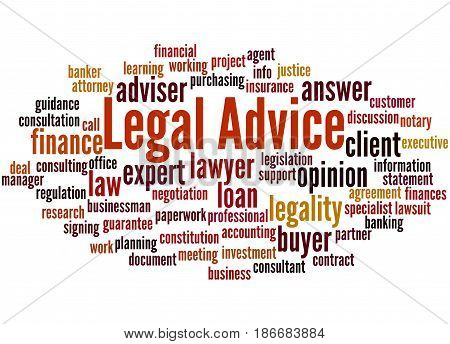 Legal Advice, Word Cloud Concept 3