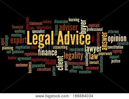 Legal Advice, Word Cloud Concept 5
