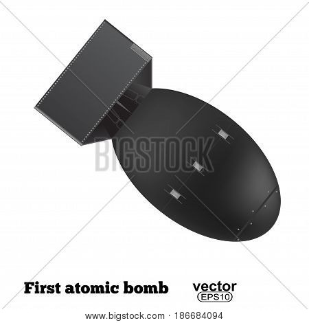 The atomic bomb isolated on a white background. Vector illustration.