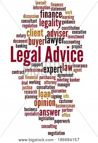 Legal Advice, Word Cloud Concept 6