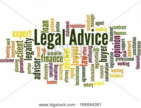 Legal Advice, Word Cloud Concept 8
