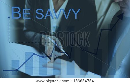 Be Savvy Smart Knowing Concept Word poster