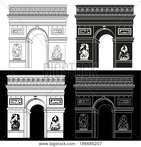 Triumphal Arch in black and white: contour and silhouette
