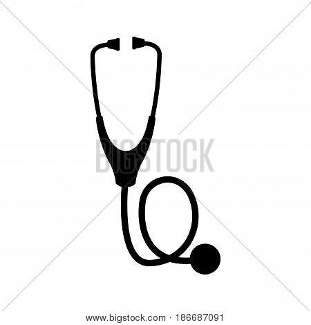 computer stethoscope assistance detection system vector illustration