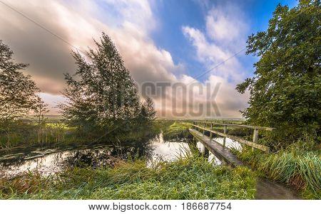 Inviting Walking Bridge