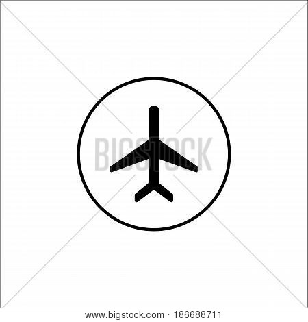Airplane mode solid icon, mobile sign and plane, vector graphics, a filled pattern on a white background, eps 10.
