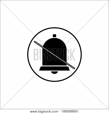 Soundless and mute solid icon, mobile sign and silent with bell, vector graphics, a filled pattern on a white background, eps 10.
