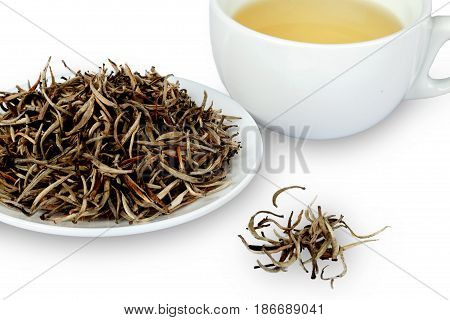 Tea white tea cup dried tea dry tea loose tea leaves tea leaves