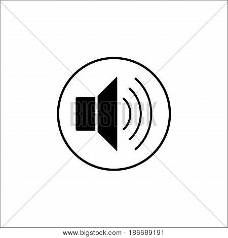 Sound mode solid icon, mobile sign and loud, vector graphics, a filled pattern on a white background, eps 10.