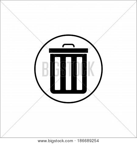 delete and bin solid icon, mobile sign and garbage trash pictogram, vector graphics, a filled pattern on a white background, eps 10.