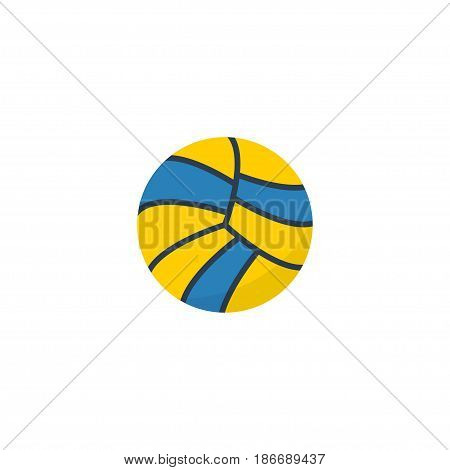 Flat Ball Element. Vector Illustration Of Flat Volleyball  Isolated On Clean Background. Can Be Used As Volleyball, Ball And Sport Symbols.