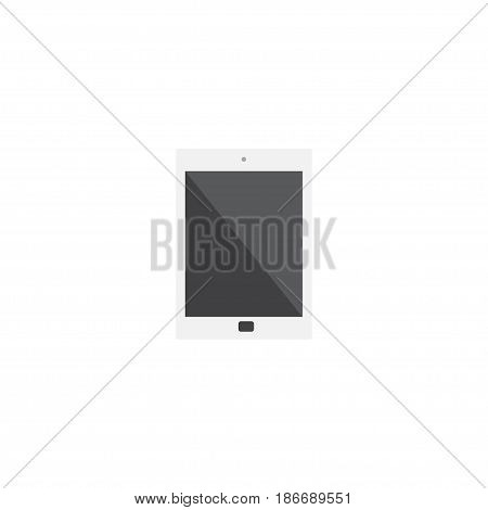 Flat Tablet Element. Vector Illustration Of Flat Palmtop Isolated On Clean Background. Can Be Used As Tablet, Phone And Palmtop Symbols.