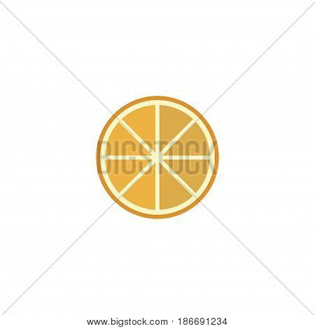 Flat Orange Element. Vector Illustration Of Flat Citrus Isolated On Clean Background. Can Be Used As Orange, Citrus And Fruit Symbols.