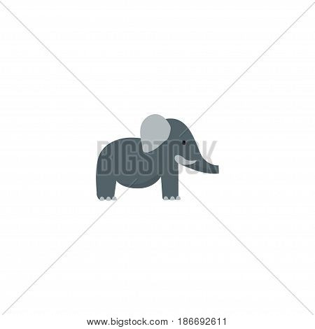 Flat Elephant Element. Vector Illustration Of Flat Bishop Isolated On Clean Background. Can Be Used As Bishop, Elephant And Trunk Symbols.