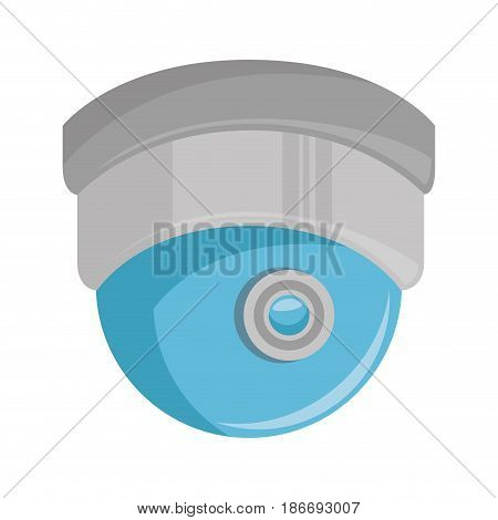 dome security cam isolated icon vector illustration design