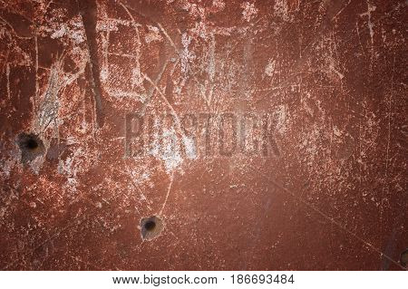 Wall Brown Colored Concrete Or Cement As Background