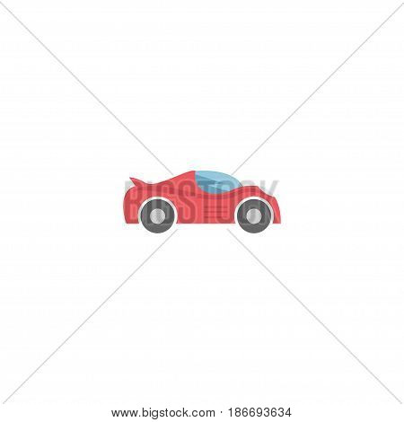 Flat Sport Vehicle Element. Vector Illustration Of Flat Luxury Auto Isolated On Clean Background. Can Be Used As Sport, Car And Auto Symbols.