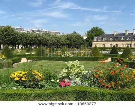One Of The Gardens Of Paris