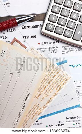 Check finance business finances financial stock market