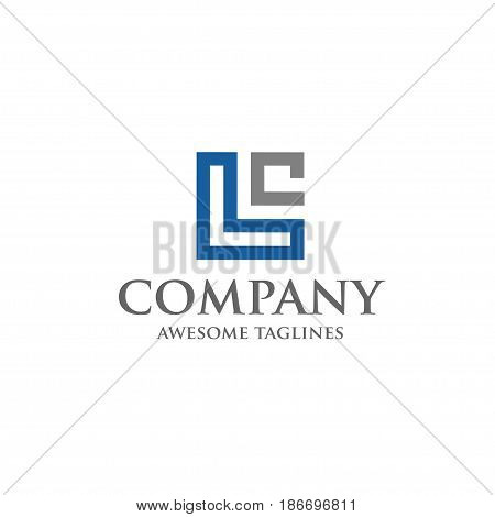 LC letter logo design vector illustration template, L letter logo vector, letter LW and C logo vector, creative Letter LC letter logo