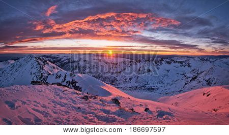View from peak Musala the highest peak between the Alps and the Caucasus and the highest in Eastern Europe