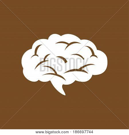 Brain icon. Human intelligent smart mind. Neurology symbol.