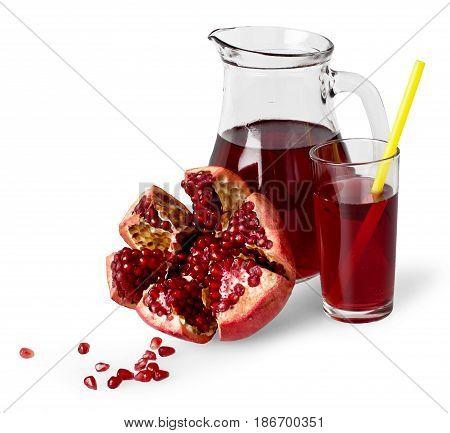 Pomegranate fruit juice drink healthy lifestyle carafe fresh