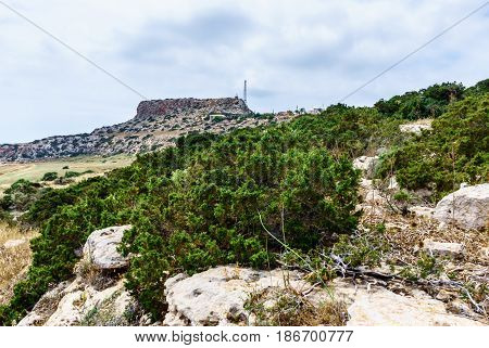 Road to Cape Greco in Ayia Napa. Cyprus