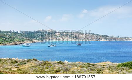 Sea view from the park Cavo Greco in Ayia Napa. Cyprus