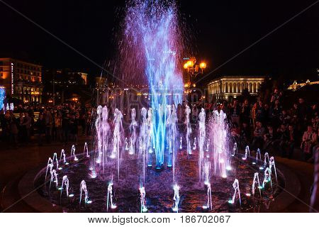 Opening Of The Singing Fountains In Kiev