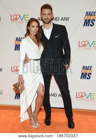 LOS ANGELES - MAY 05:  Nick Viall and Vanessa Grimaldi arrives for the Race To Erase MS Gala 2017 on May 5, 2017 in Beverly Hills, CA