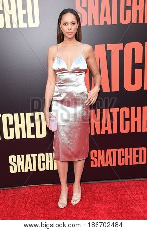 LOS ANGELES - MAY 10:  Amber Stevens West arrives for the 'Snatched' World Premiere on May 10, 2017 in Westwood, CA