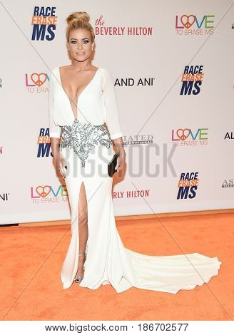 LOS ANGELES - MAY 05:  Carmen Electra arrives for the Race To Erase MS Gala 2017 on May 5, 2017 in Beverly Hills, CA