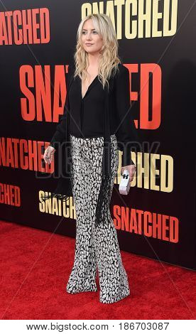 LOS ANGELES - MAY 10:  Kate Hudson arrives for the 'Snatched' World Premiere on May 10, 2017 in Westwood, CA