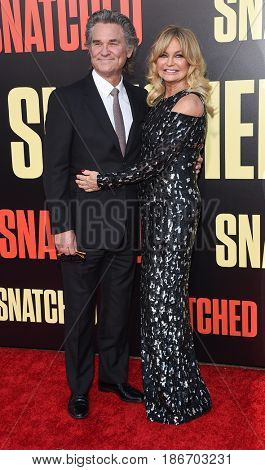 LOS ANGELES - MAY 10:  Kurt Russell and Goldie Hawn arrives for the 'Snatched' World Premiere on May 10, 2017 in Westwood, CA