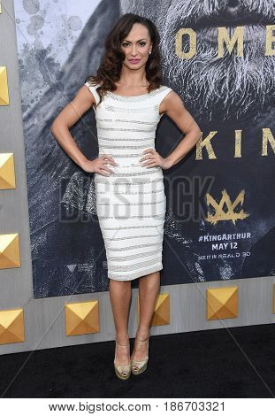 LOS ANGELES - MAY 08:  Karina Smirnoff arrives for the 'King Arthur: Legend Of The Sword
