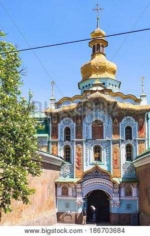 People Near Entrance In Kiev Pechersk Lavra