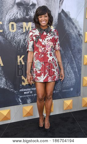 LOS ANGELES - MAY 08:  Aisha Tyler arrives for the 'King Arthur: Legend Of The Sword