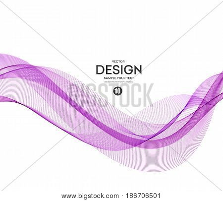 Abstract vector background, purple waved lines for brochure, website, flyer design. Transparent wave. Science or technology design